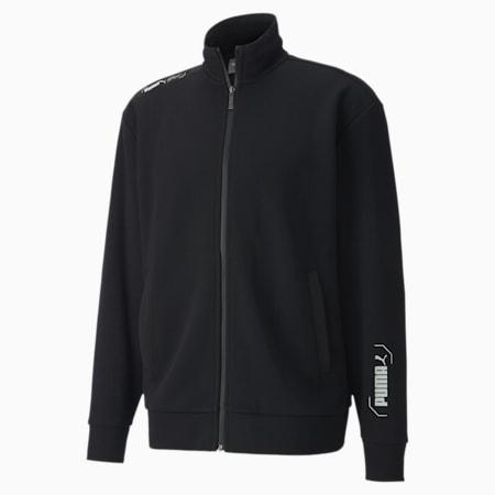 NU-TILITY Men's Track Jacket, Puma Black, small-SEA