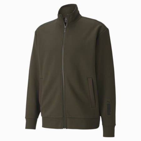 NU-TILITY Men's Track Jacket, Forest Night, small-IND