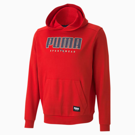 ATHLETICS Regular Fit Men's Hoodie, High Risk Red, small-IND
