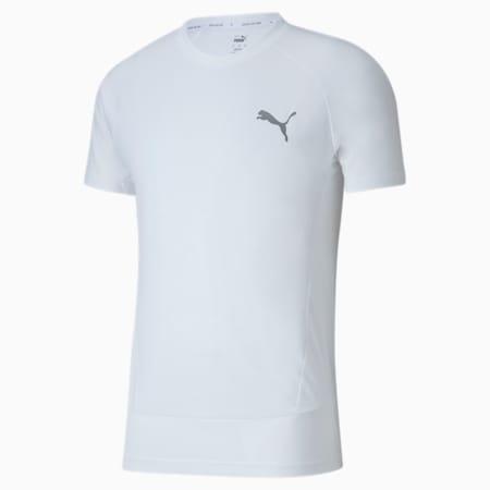 Evostripe Slim Fit Men's T-Shirt, Puma White, small-IND