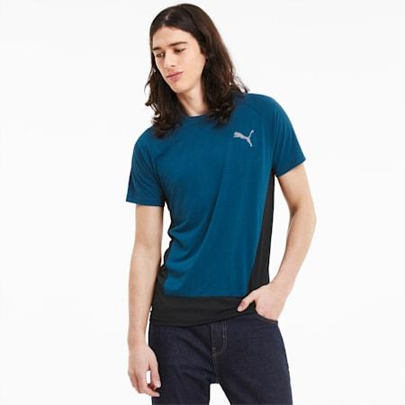 Evostripe Herren Kurzarm-Shirt, Digi-blue, small