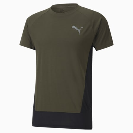 Evostripe Slim Fit Men's T-Shirt, Forest Night, small-IND