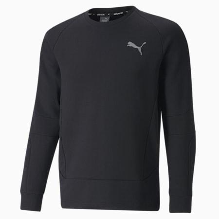 Evostripe Crew Neck Men's Sweater, Puma Black, small-GBR