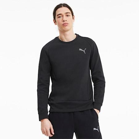 Evostripe Men's Crewneck Sweatshirt, Puma Black, small