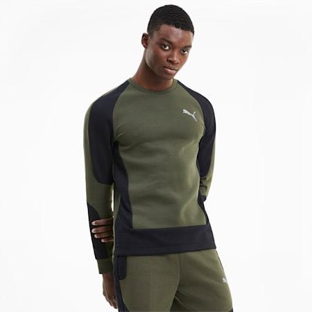 Evostripe Men's Crewneck Sweatshirt, Forest Night, small