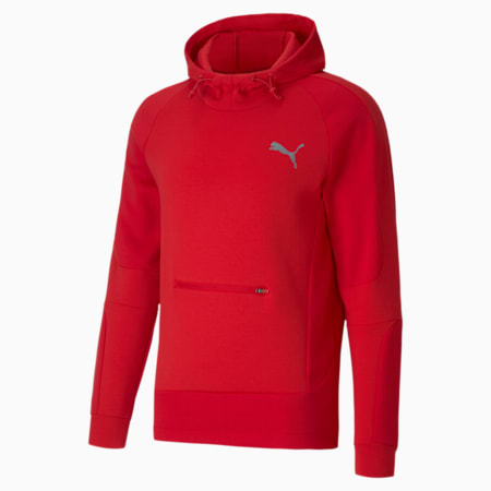 Evostripe dryCELL Slim Fit Men's Hoodie, High Risk Red, small-IND