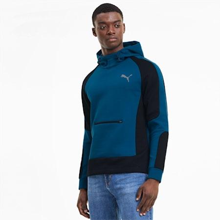 Evostripe dryCELL Slim Fit Men's Hoodie, Digi-blue, small-IND