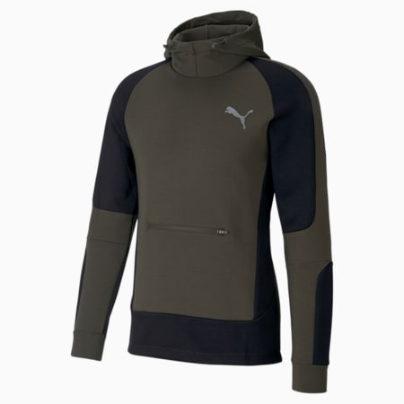 Evostripe dryCELL Men's Hoodie, Forest Night, small-IND