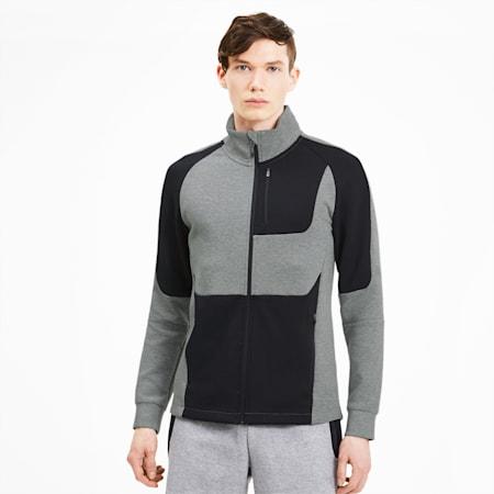 Evostripe dryCELL Men's Track Jacket, Medium Gray Heather, small-IND