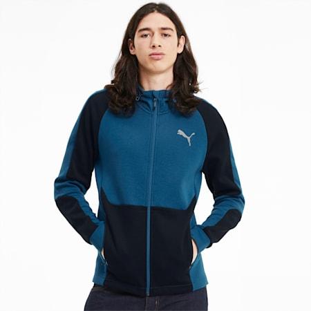 Evostripe Men's Full Zip Hoodie, Digi-blue, small