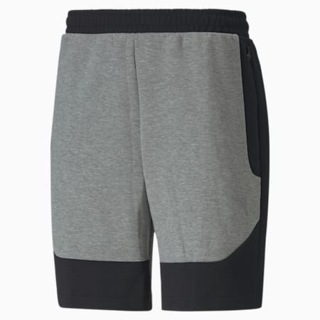 Shorts Evostripe para hombre, Medium Gray Heather, pequeño