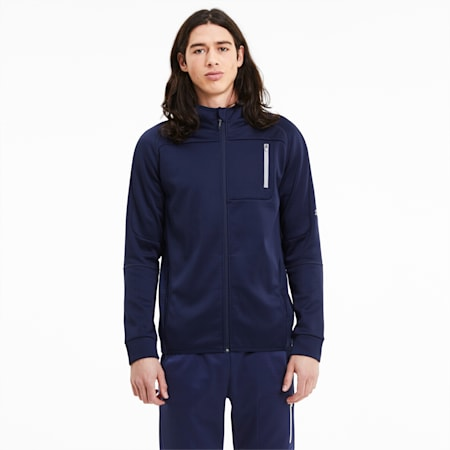 Evostripe Warm Men's Full Zip Hoodie, Peacoat, small