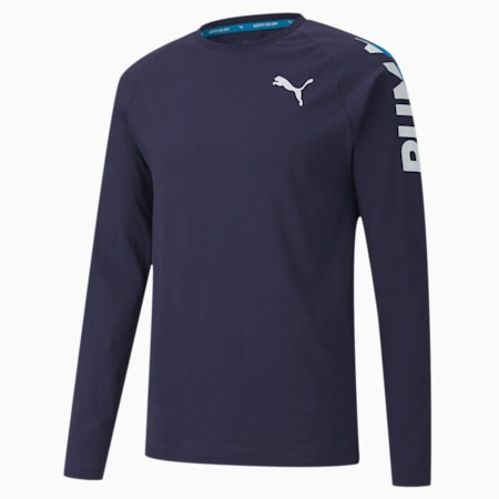 Modern Sports Long Sleeve Men's T-Shirt, Peacoat, small-IND