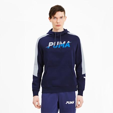 Modern Sports hoodie voor heren, Peacoat, small