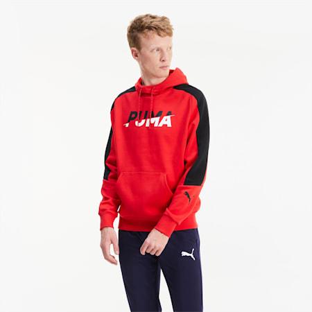 Modern Sports hoodie voor heren, High Risk Red, small