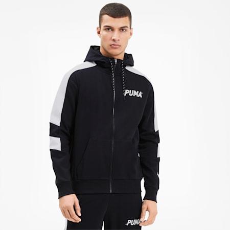 Modern Sports Full Zip Men's Hoodie, Puma Black, small