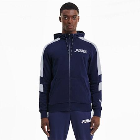 Modern Sports Men's Full Zip Hoodie, Peacoat, small