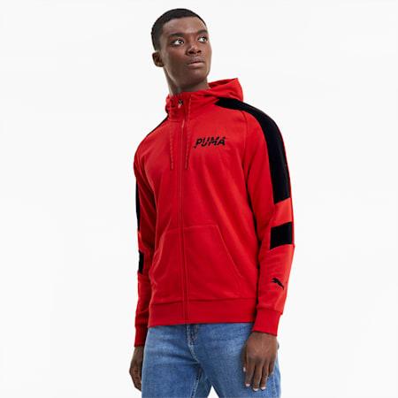 Modern Sports Men's Full Zip Hoodie, High Risk Red, small