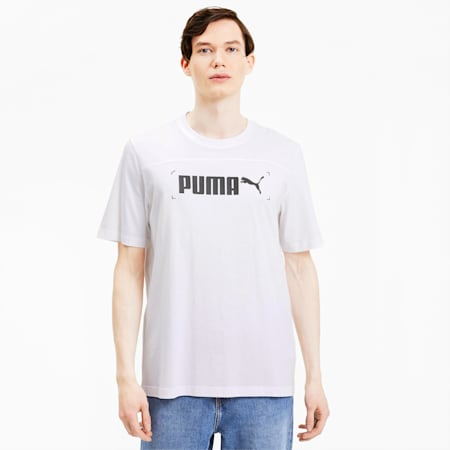 T-shirt grafica da uomo NU-TILITY, Puma White, small