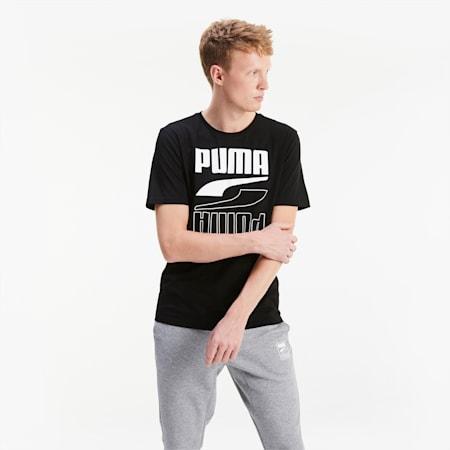 Rebel heren-T-shirt met korte mouwen, Puma Black, small
