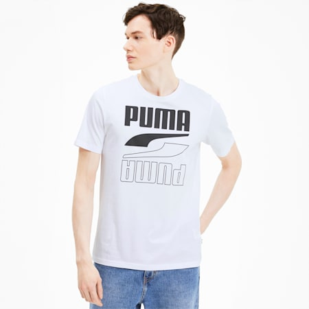 Rebel Herren T-Shirt, Puma White, small