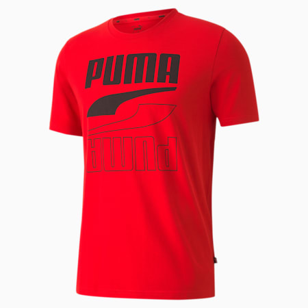 Rebel Short Sleeve Slim Fit Men's T-Shirt, High Risk Red, small-IND