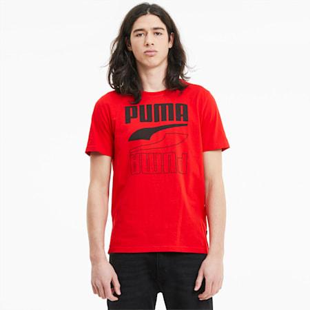Rebel Herren T-Shirt, High Risk Red, small