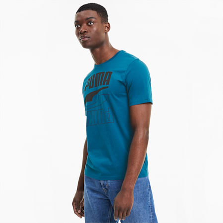 Rebel Herren T-Shirt, Digi-blue, small