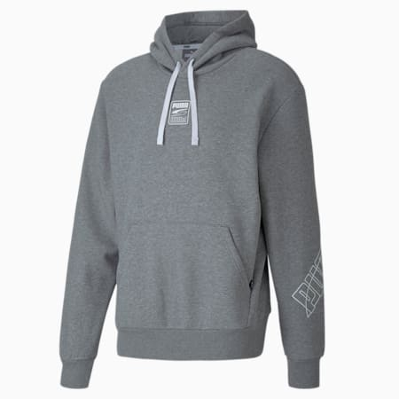 Rebel Men's Hoodie, Medium Gray Heather, small