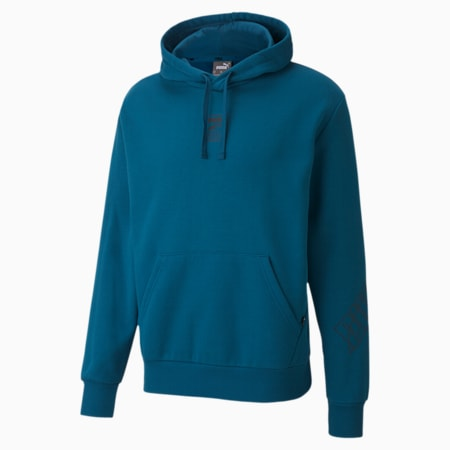 Rebel Men's Hoodie, Digi-blue, small