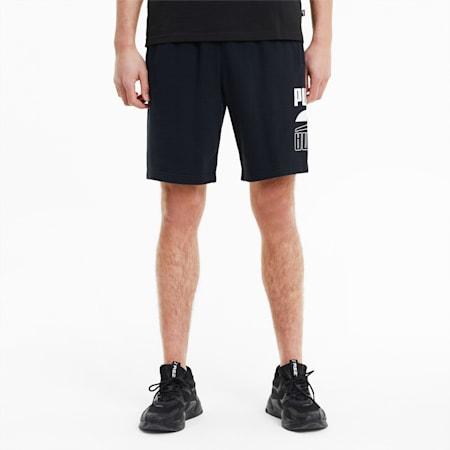 Rebel Gestrickte Herren Shorts, Puma Black, small