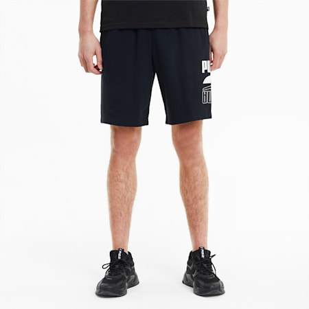 Rebel Knitted Men's Shorts, Puma Black, small
