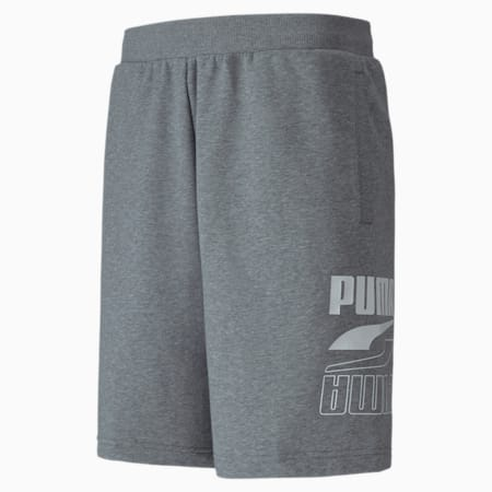 Rebel Knitted Men's Shorts, Medium Gray Heather, small-IND