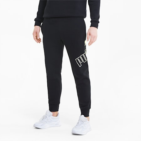 Big Logo Men's Sweatpants, Puma Black, small