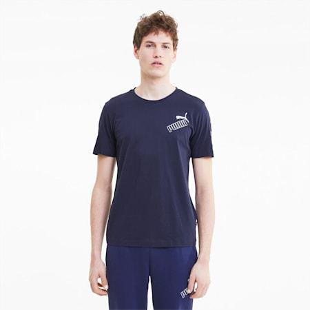 Amplified T-shirt voor heren, Peacoat, small