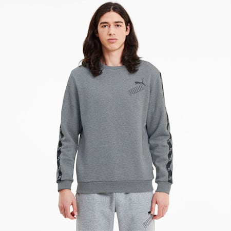 Amplified sweatshirt met ronde hals voor heren, Medium Gray Heather, small