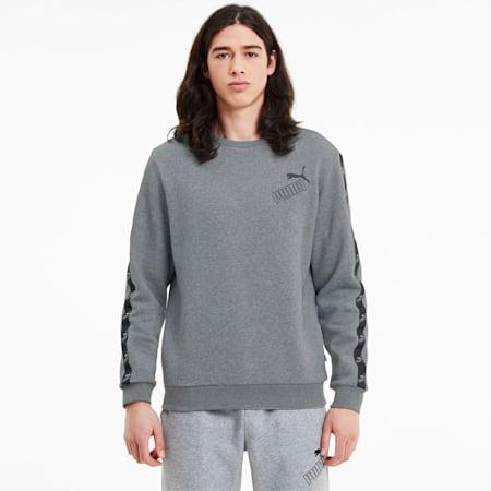 Męska bluza Amplified z okrągłym kołnierzem, Medium Gray Heather, small