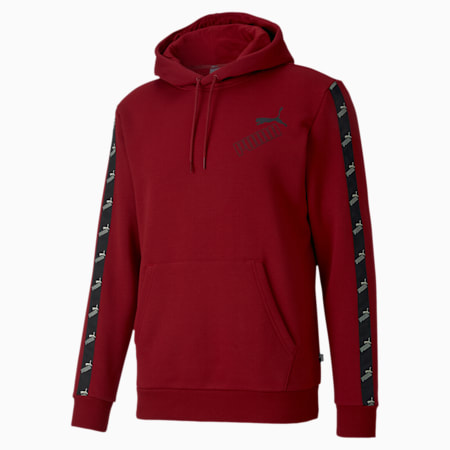 Amplified Men's Hoodie, Red Dahlia, small