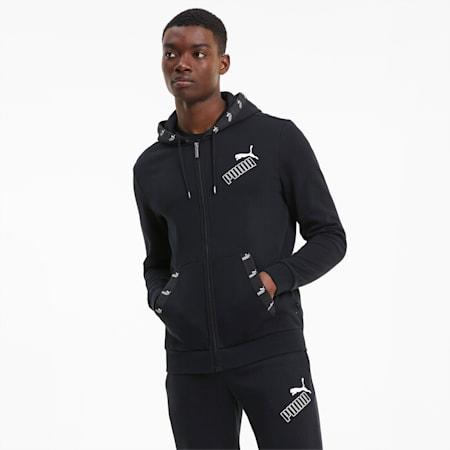 Amplified Men's Full Zip Hoodie, Puma Black, small