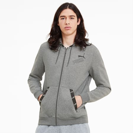 Sudadera con capucha Amplified para hombre, Medium Gray Heather, small
