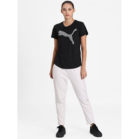 Evostripe Relaxed Fit Women's T-Shirt, Puma Black, small-IND