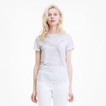 Evostripe Damen Kurzarm-Shirt, Puma White, small
