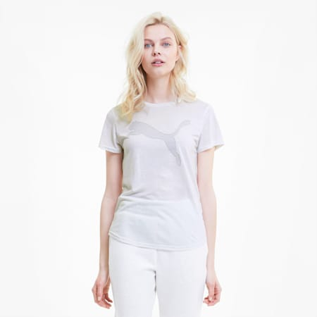 Evostripe T-shirt voor dames, Puma White, small
