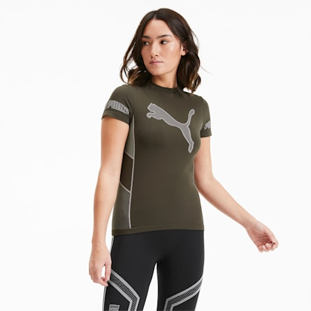 Evostripe evoKNIT Damen T-Shirt, Forest Night, small