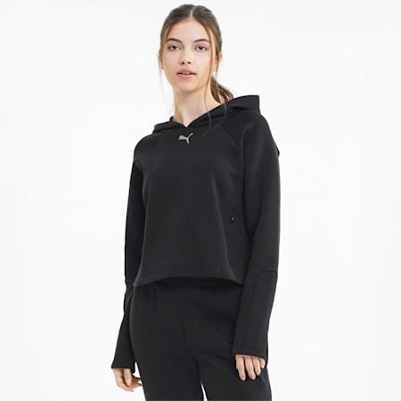 Damska bluza Evostripe z kapturem, Puma Black, small