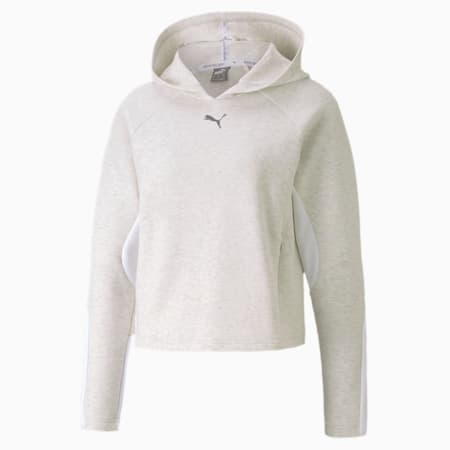 Evostripe dryCELL Women's Hoodie, Puma White Heather, small-IND