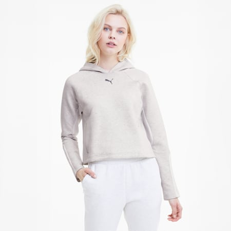 Evostripe Women's Hoodie, Puma White Heather, small