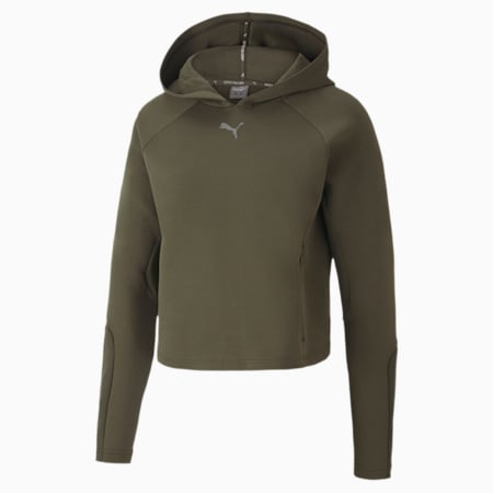 Evostripe dryCELL Women's Hoodie, Forest Night, small-IND