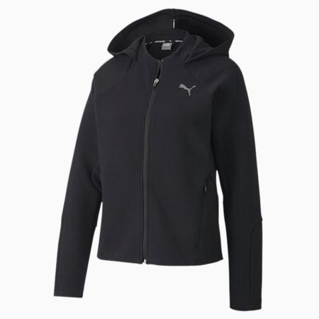Evostripe Full Zip dryCELL Regular Fit Women's Hoodie, Puma Black, small-IND