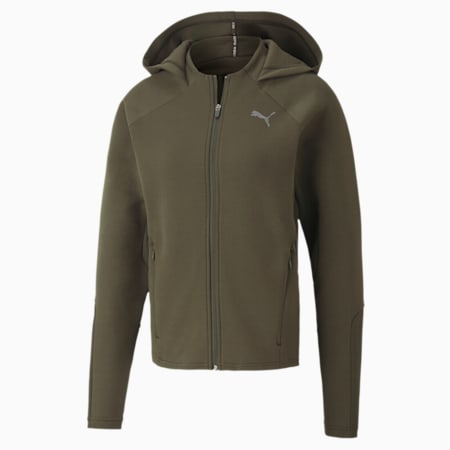 Evostripe Full Zip dryCELL Regular Fit Women's Hoodie, Forest Night, small-IND